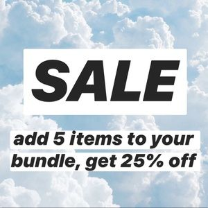 25% OFF 5+ ITEMS
